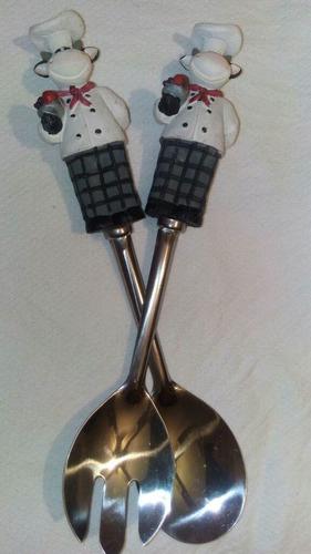 cucharas para salsa y ensaladas cocina