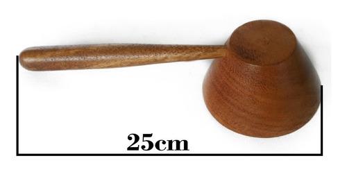 cucharón dar forma de madera samán artesanía hogar cocina