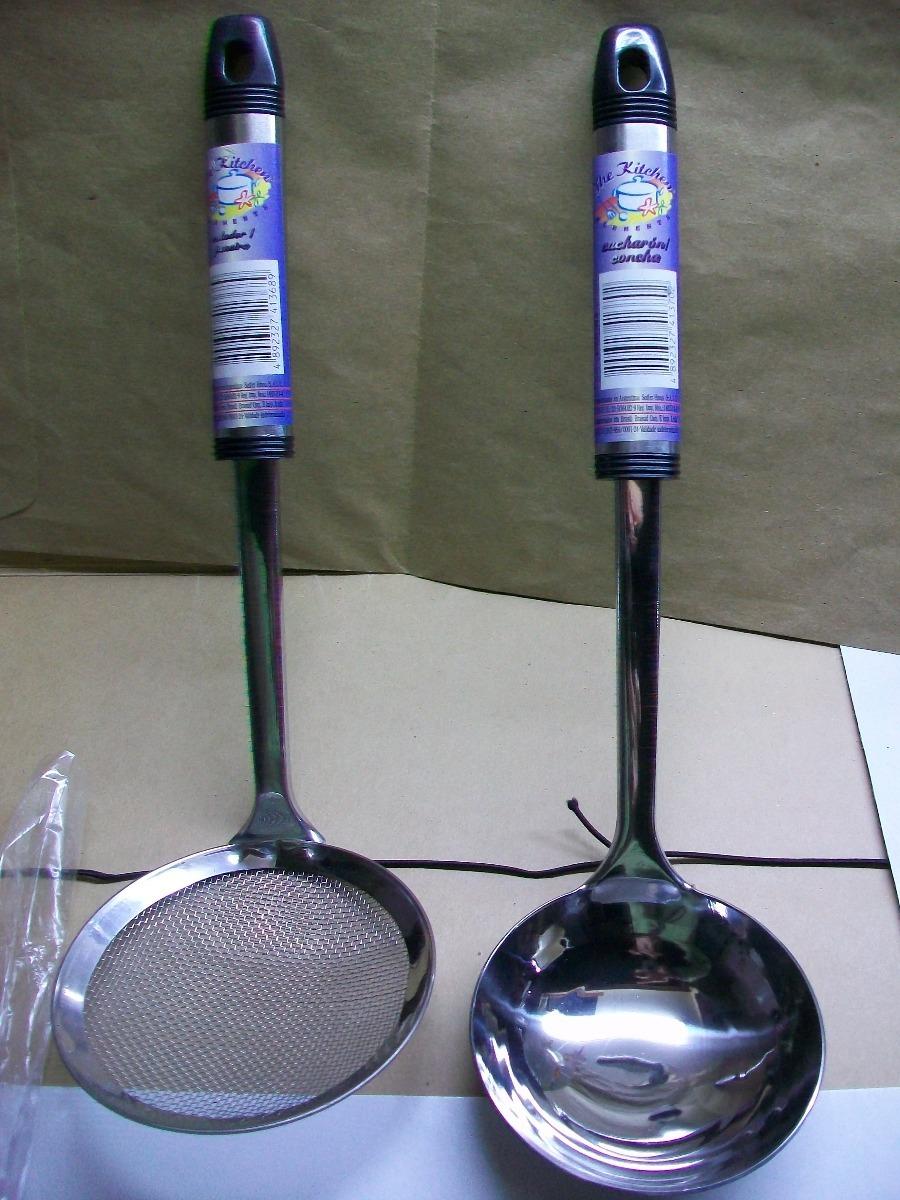 Cucharon Set X 4 Utensilios De Cocina En Acero Inoxidable - $ 420,00 ...