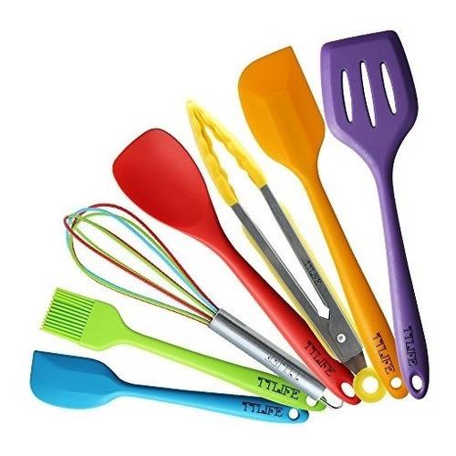 cucharones,ttlife espátula de silicona cocina de utensil..