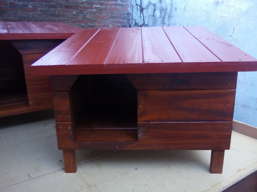 cuchas de madera / perro chico (modelo a un agua)