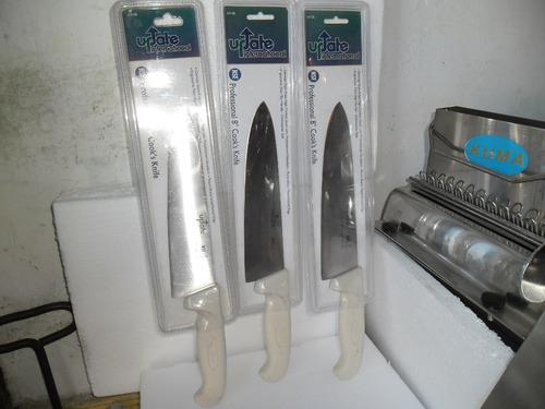 cuchilla cocina nueva hoja inox alemana 10 pulgadas mango pp