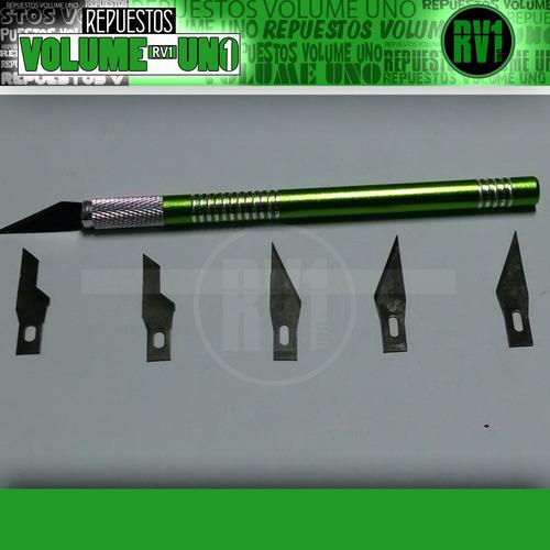 cuchilla con diversas puntas - 6 puntas distintas