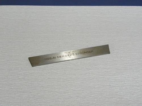 cuchilla de corte conica acero rapido 3/4 x 1/8 x 5