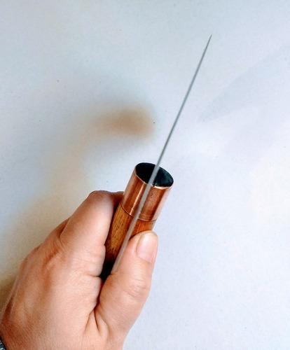 cuchilla media luna para cuero talabarteria