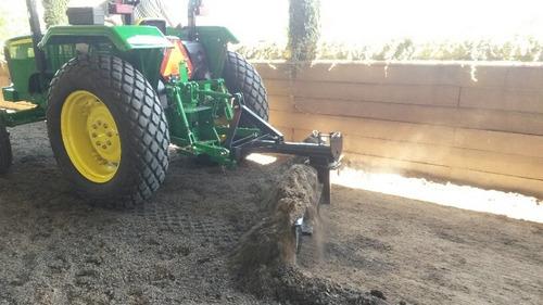 cuchilla niveladora de terrenos p/tractor. reforzada 2.13 mt