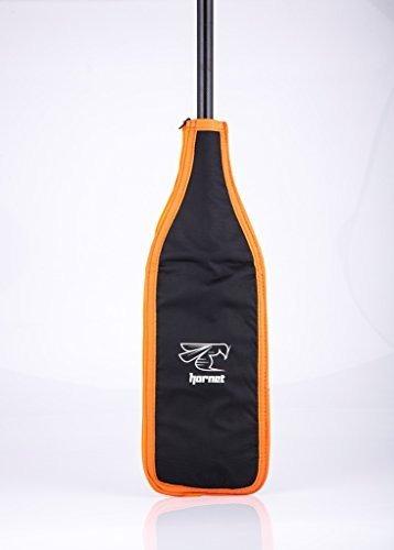 cuchilla para dragon boat paddle (negro-naranja-plata)