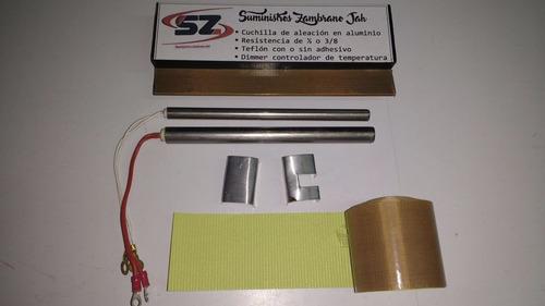cuchilla resistencia y teflon para maquinas selladoras chupi