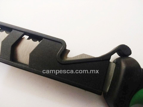 cuchillo acero filetero c funda desescamador corta cuerda