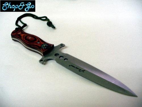 cuchillo acero full tang doble filo mod m8278