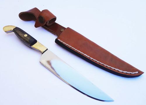 cuchillo acero quirurgico 2 botones bronce hoja 12cm c/vaina