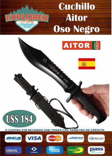 cuchillo aitor oso negro
