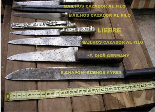 cuchillo antiguo plata antiguos plateria criolla alpaca lote