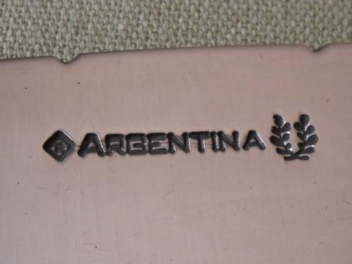 cuchillo argentina hoja 15 cms carbono lomo grueso plata 925