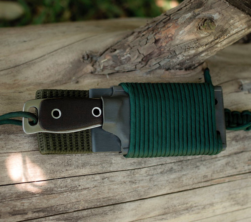 cuchillo artesanal acero 52100 (usa) tipo bushcraft