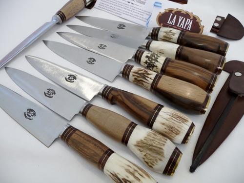 cuchillo artesanal argentino - hoja 14 cm - la yapa de campo