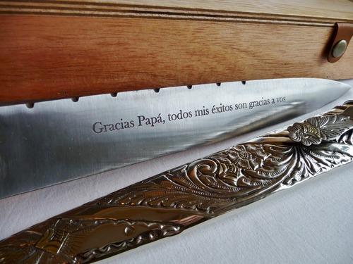 cuchillo artesanal argentino. hoja 26 cm - tradición gaucha