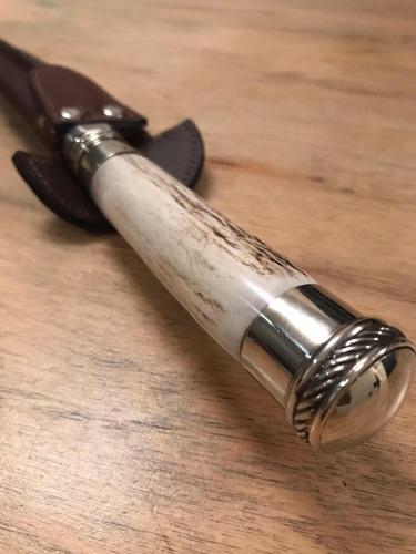 cuchillo artesanal asta con alpaca - el ombu x 15cm