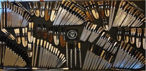 cuchillo artesanales de 15 cm de hoja y cabo imitación mulit