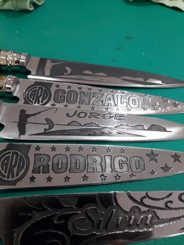 cuchillo artesanales de tandil hoja acero inox grabado acido