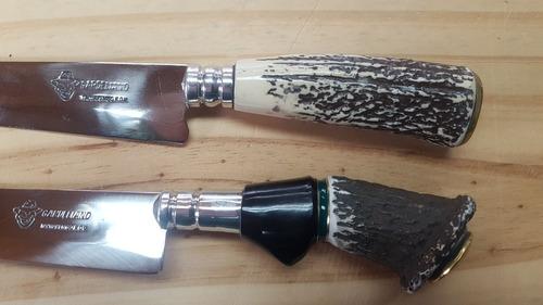 cuchillo artesanales gardeliano cabo de guampa. 15 cmde hoja