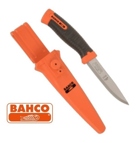 cuchillo bahco 2446 funda rigida hoja 10cm inoxidable