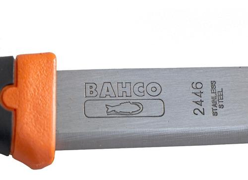cuchillo bahco mango bimaterial gran calidad con funda 2446