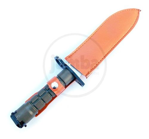 cuchillo bayonet knife cs go war con funda pasacinto