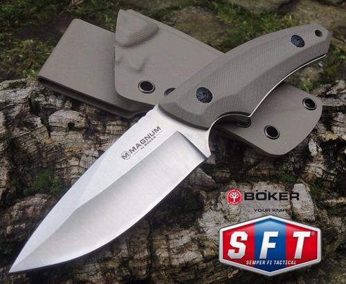 cuchillo böker pal desert con funda de kydex desert - s f t®