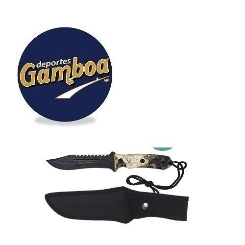 cuchillo cacería monte mango camuflaje 8939