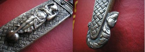 cuchillo cazador al filo plateria criolla antiguo plata