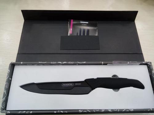 cuchillo cerámica 6 pulg  colección tramontina  pettish v c