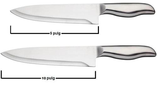 cuchillo chef rebanador carnicero charcutero 12 10 y 8 acero