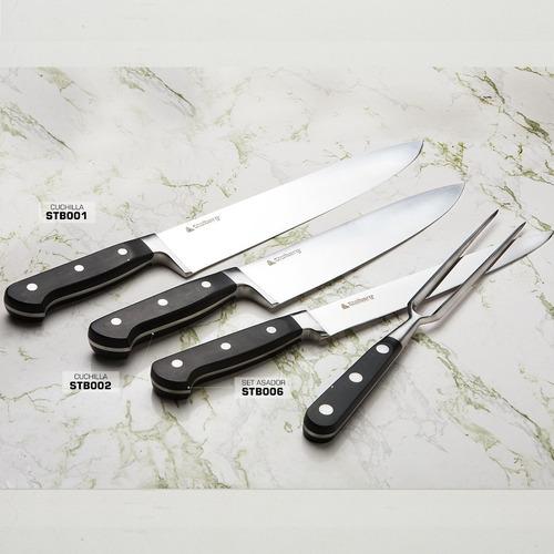 cuchillo cocinero 25 cm acero inox profesional  stolberg