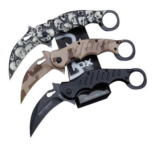 cuchillo combate fox fa30  karambit tactico counter strike