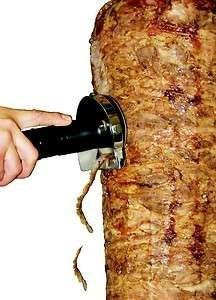 cuchillo cortadora tacos al pastor rebanador inalambrico