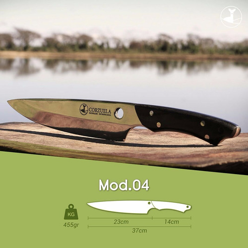 cuchillo corzuela nro 4 - nuevo acero 440c alemán