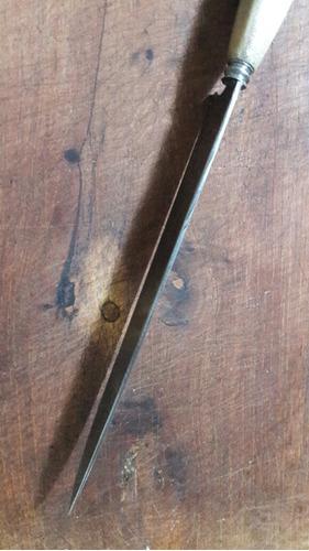 cuchillo criollo artesanal 23cm mango rectangular