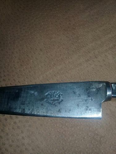 cuchillo criollo cabo de alpaca vaina de cuero crudo artesan