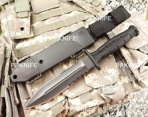 cuchillo daga tactica pierna mk funda rigida muslera