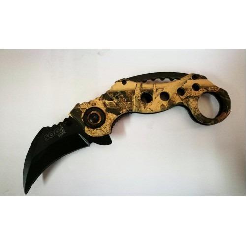 cuchillo de acero inoxidable karambit coyote