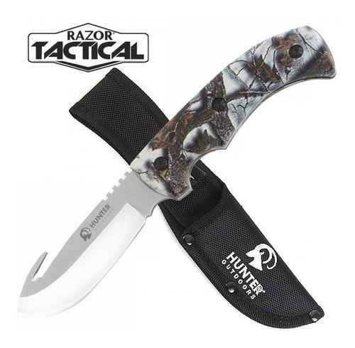 cuchillo de caceria con gancho camo (rt-9014sc)