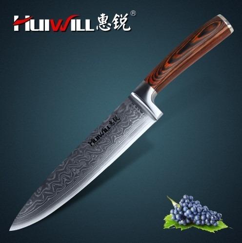 Cuchillo de cocina 8 japon s acero vg10 damasco a pedido s 240 00 en mercado libre - Cuchillo de cocina acero damasco ...