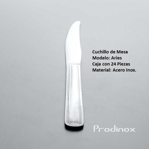 cuchillo de mesa aries de acero inox. 24 pz incluye envío