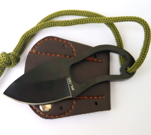 cuchillo de supervivencia mini con funda caza tactico pesca