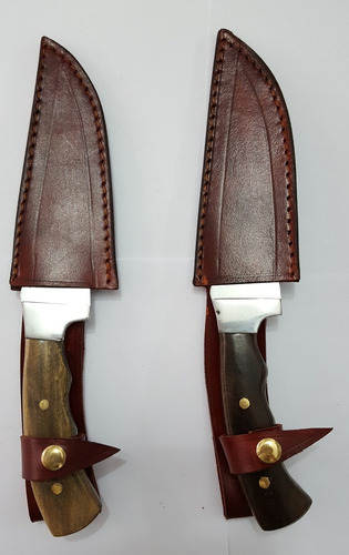 cuchillo deportivo corto c/funda de cuero art34 camping