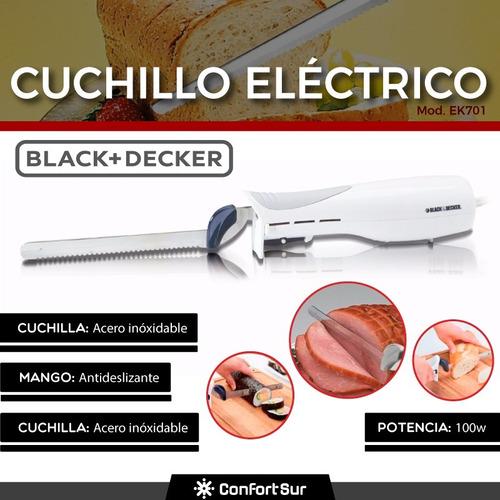 cuchillo eléctrico black & decker ek701 100w 9'' seguro #6