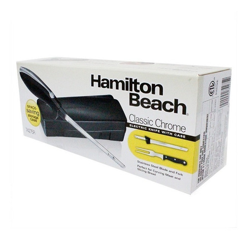 cuchillo eléctrico con trinche negro hamilton beach 74275r