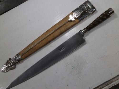 cuchillo facón picazo cuero 34 cm el lapacho gallón