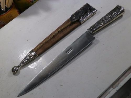 cuchillo facón picazo soaje  alpaca flor 30 cm el lapacho